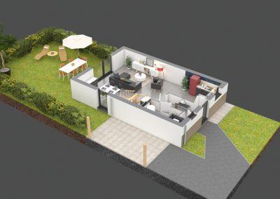Plan de vente 3d d'une maison