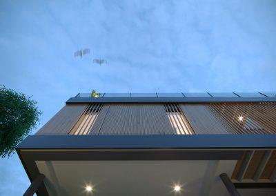 Visualisation 3d d'un détail de façade
