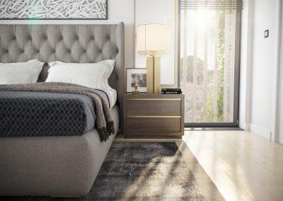 Visualisation 3d réaliste d'une chambre en détail